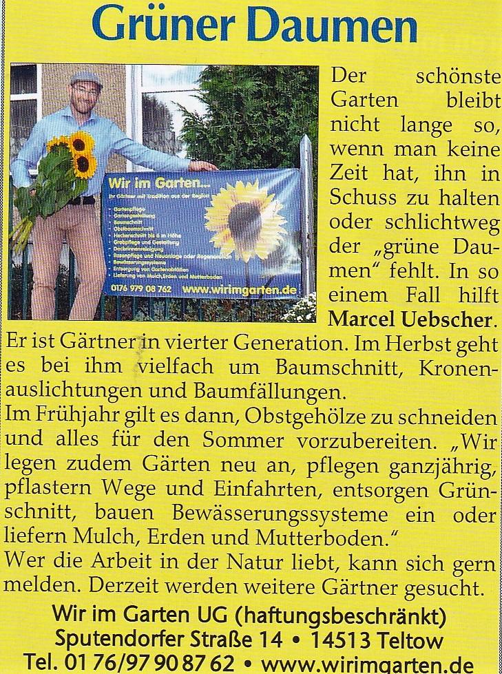 Gärtner in Kleinmachnow